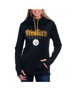 Pittsburgh Steelers Women's Majestic Speed Fly Fleece Hoodie