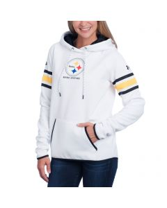 Pittsburgh Steelers Under Armour NFL Combine Women's White Fleece Hoodie