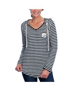 Pittsburgh Steelers Women's Pullover Stripe Hoodie