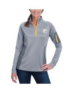 Pittsburgh Steelers Cutter & Buck Women's Shaw Hybrid 1/2 Zip Top
