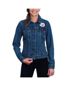 Pittsburgh Steelers Levi's Women's Sports Denim Trucker Jacket