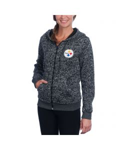 Pittsburgh Steelers Women's Cozy Sweater Full-Zip Hoodie
