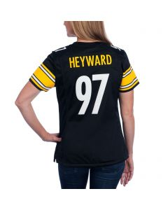 Cam Heyward #97 Women's Nike Replica Home Jersey