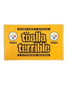 Pittsburgh Steelers Spanish Terrible Towel with Logos