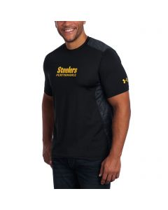 Pittsburgh Steelers Under Armour NFL Combine Short Sleeve Raid Novelty Black T-Shirt