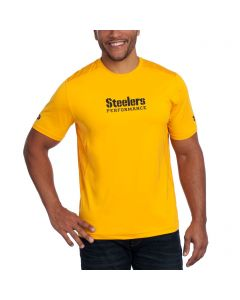 Pittsburgh Steelers Under Armour NFL Combine Short Sleeve Raid Novelty Gold T-Shirt