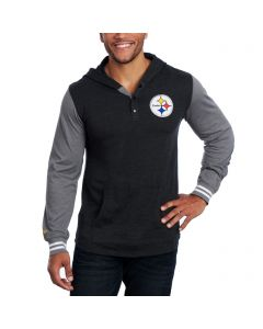 Pittsburgh Steelers Mitchell & Ness Mid-Season Hooded Long Sleeve