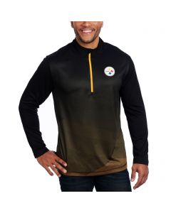 Pittsburgh Steelers Majestic Intimidating Long Sleeve Pull-Over 1/2 Zip