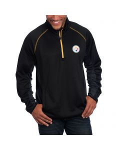 Pittsburgh Steelers Flexibility Half Zip Fleece Mock