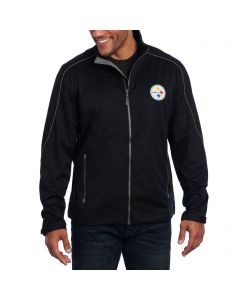 Pittsburgh Steelers Cutter & Buck Weathertec Opening Day Softshell Jacket