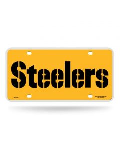 Pittsburgh Steelers Stencil Gold License Plate