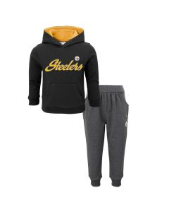 Pittsburgh Steelers Toddler Girls Football Cutie Hoodie & Pant Set