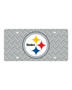 Pittsburgh Steelers Diamond Grid Logo License Plate