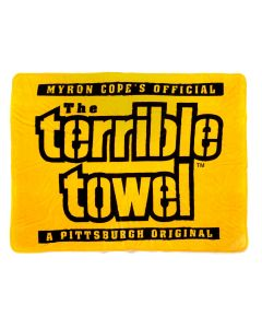 Pittsburgh Steelers Terrible Towel Silk Touch Blanket 60 x 80
