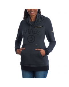 Pittsburgh Steelers Women's Nike Salute to Service (STS) Rally Funnel Fleece