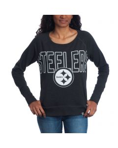 Pittsburgh Steelers '47 Women's React Raglan Long Sleeve T-Shirt