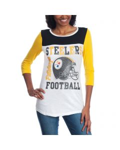 Pittsburgh Steelers New Era Women's Steelers Football 3/4 Sleeve T-Shirt