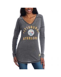 Pittsburgh Steelers Women's Majestic Victory Play Long Sleeve T-Shirt