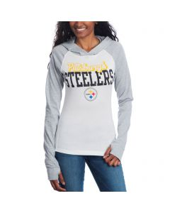 Pittsburgh Steelers Women's Old School Long Sleeve Hooded T-Shirt