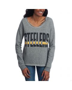 Pittsburgh Steelers Women's Junk Food Crop Fleece