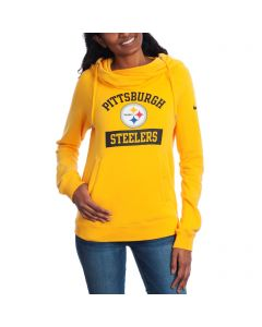 Pittsburgh Steelers Nike Women's Tailgate Funnel Fleece Hoodie