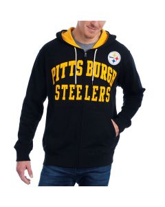 Pittsburgh Steelers GIII Pass Attempt Full-Zip Fleece Hoodie