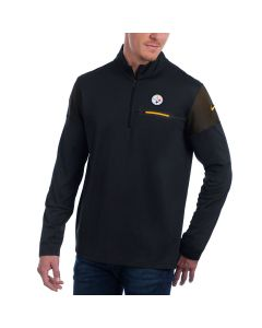 Pittsburgh Steelers Nike Long Sleeve Knit Elite Coaches 1/2 Zip Top