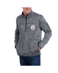 Pittsburgh Steelers GIII Fast Pace 1/2 Zip Fleece Mock