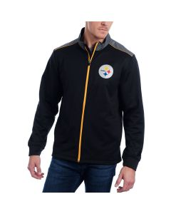 Pittsburgh Steelers Majestic Full-Zip Team Tech Mock Fleece