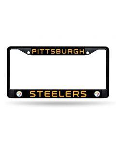 Pittsburgh Steelers Black Metal License Plate Frame