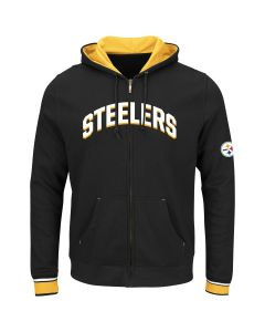 Pittsburgh Steelers Majestic Anchor Point Full-Zip Fleece Hoodie