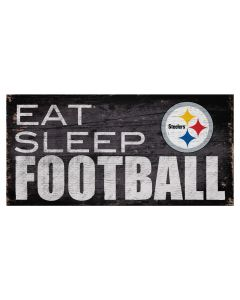 Pittsburgh Steelers 'Eat Sleep Steelers Football' Wood Sign