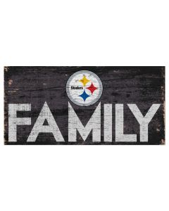 Pittsburgh Steelers 'Steelers Family' Wood Sign