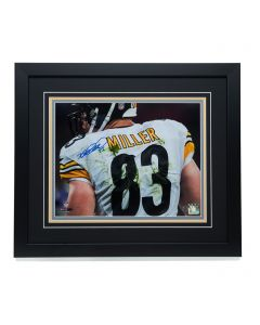 Pittsburgh Steelers #83 Heath Miller 'it's All in the Name' Signed & Framed 11x14 Photo