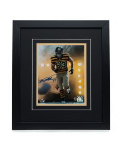 Pittsburgh Steelers #83 Heath Miller Signed 'a Hero Enters the Field' 8x10 Framed Photo