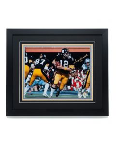 Pittsburgh Steelers #12 Terry Bradshaw 'Bicentennial Cannon at Super Bowl X' Signed 11x14 Framed Photo