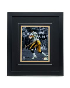 Pittsburgh Steelers #12 Terry Bradshaw Signed 'Spotlighting a Cannon in the Mud' 8x10 Framed Photo
