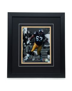 Pittsburgh Steelers #63 Dermontti Dawson Signed 'Leading the Way' 8x10 Framed Photo
