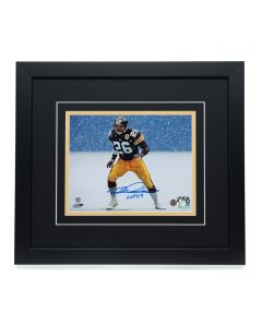 Pittsburgh Steelers #26 Rod Woodson Signed 'Blizzard Action' 8x10 Framed Photo