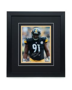 Pittsburgh Steelers #91 Stephon Tuitt Signed 'the Look' 8x10 Framed Photo