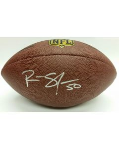Pittsburgh Steelers #50 Ryan Shazier Autographed Wilson NFL 'The Duke' Replica Football