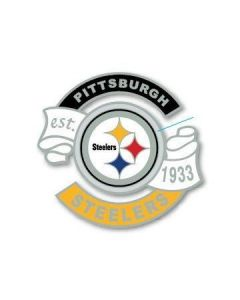 Pittsburgh Steelers Established 1933 Cut Out Ribbon Lapel Pin