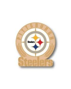 Pittsburgh Steelers Wordmark Wheat Leaves Logo Lapel Pin