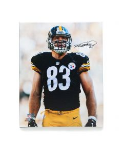 Pittsburgh Steelers #83 Heath Miller Signed 16x20 Canvas Print