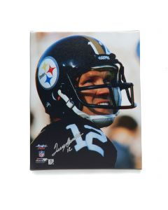 Pittsburgh Steelers #12 Terry Bradshaw Signed 16x20 Canvas Print