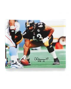 Pittsburgh Steelers #63 Dermontti Dawson Signed 16x20 Canvas Print