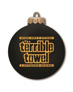 Pittsburgh Steelers Black Terrible Towel Ornament Bulb
