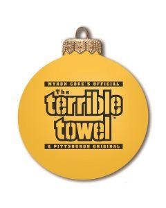Pittsburgh Steelers Gold Terrible Towel Ornament Bulb