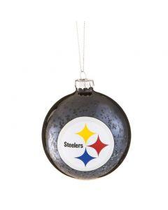 Pittsburgh Steelers Black Mercury Glass Ornament