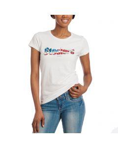 Pittsburgh Steelers Women's Patriotic White T-Shirt